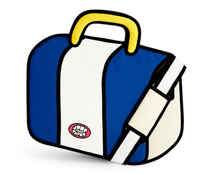 Jump from Paper cartoon-style bags