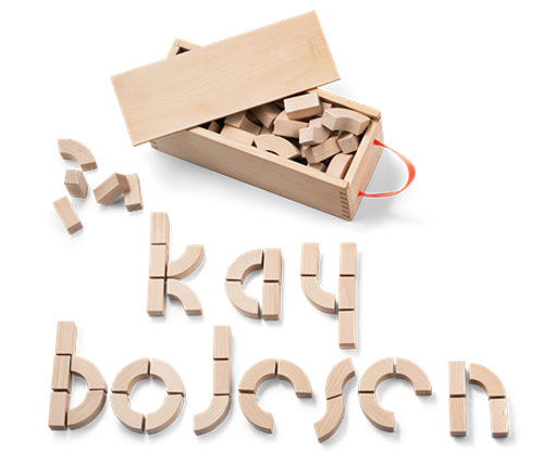 1950s Kay Bojesen Alphabet Blocks reissued
