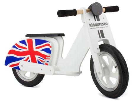 Mod-inspired Kiddimoto scooter bikes