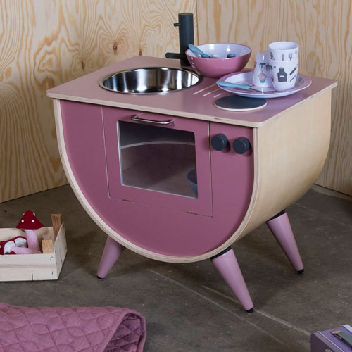 Vintage Rose Wooden Play Kitchen at Ella James