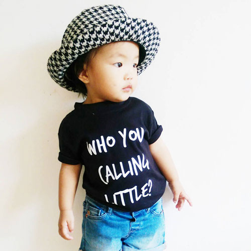 'Who You Calling Little' t-shirt by Kidult & Co