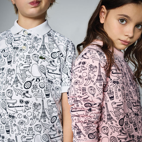 Lacoste x Omy limited edition clothing range for kids