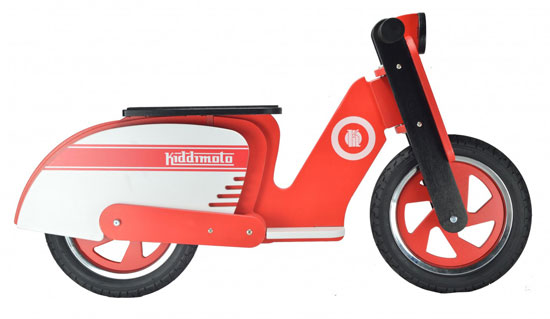 Lambretta-inspired scooter for kids by Kiddimoto