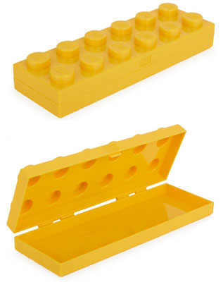 Lego yellow brick pencil case