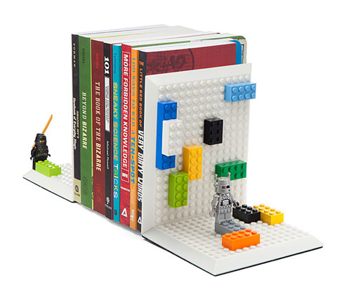 Build On Brick Bookends at ThinkGeek