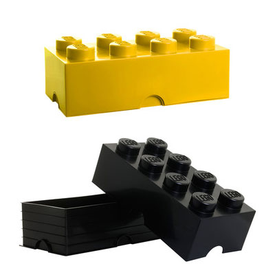Lego lunch boxes and storage bricks