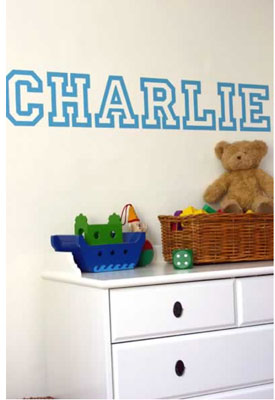 Bespoke Name Wall Stickers at Rockett St George