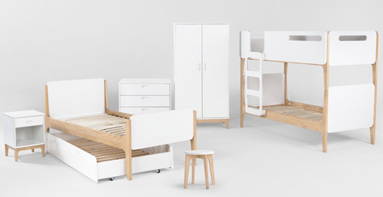 Linus bunk bed and furniture range for kids at made junior hipster - Cheap hipster furniture ...