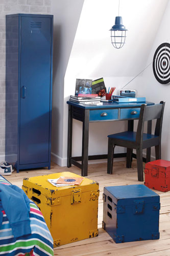 Locker industrial-style bedroom furniture for boys at Next