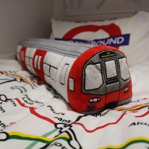 London Underground Tube Train toy cushion by High Resolution Design
