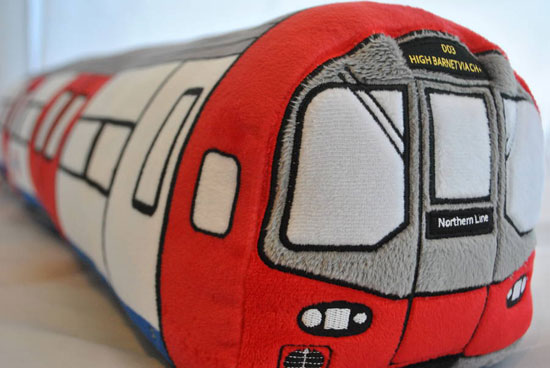 London Underground Tube Train toy cushion by High Resolution Design