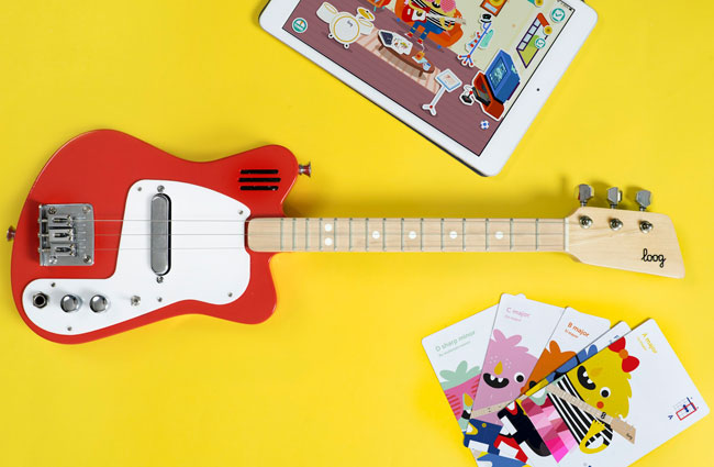 1960s-style Loog guitars with built-in amps