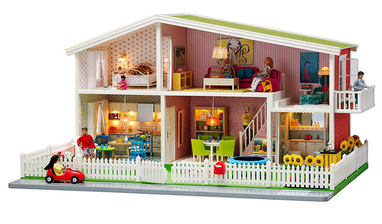 Midcentury-inspired Lundby dolls house plus modern accessories discounted at Zulily