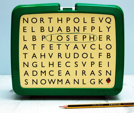 Personalised retro-style lunch box by Spotty N Stripy