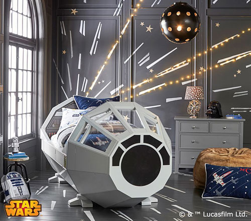 Star Wars Millennium Falcon bed for kids by Pottery Barn