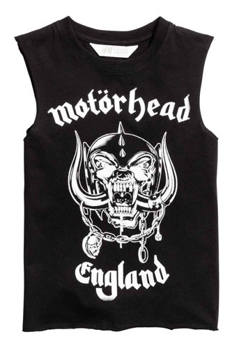 Motorhead sleeveless t-shirt for kids at H&M