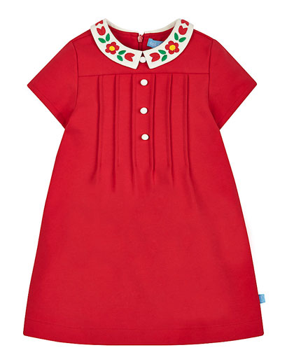 1960s-style Little Bird by Jools Red Collar Dress