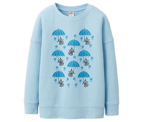 Moomins sweatshirts for kids at Uniqlo