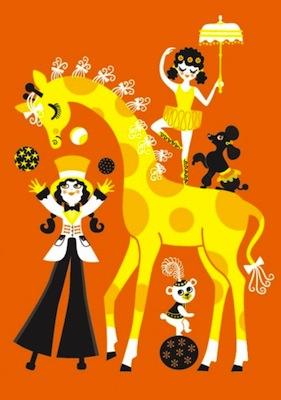 Majas Cirkus Poster by Omm Design at Hus & Hem