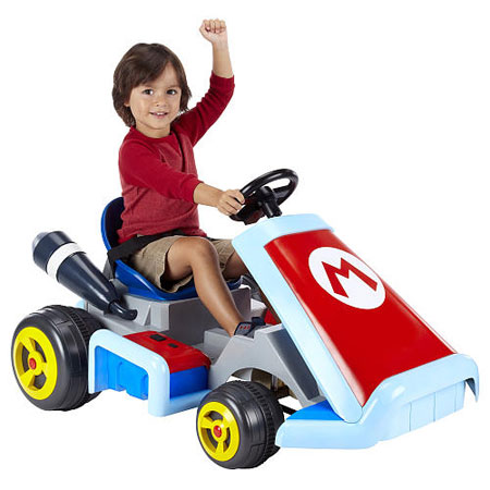 Ride like Mario: Super Mario Kart Ride On Vehicle