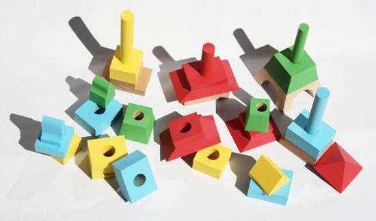 Architectural building block toys by Mitoi
