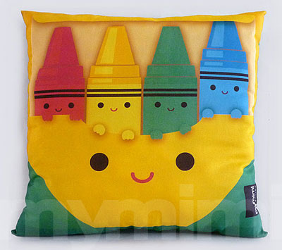 Children's Crayon Cushion by MyMimi