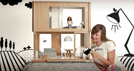 Miniio contemporary dolls houses and furniture
