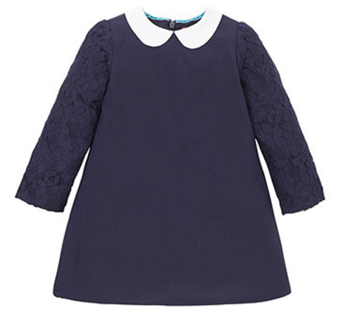 1960s-style Little Bird Lace Sleeve Dress at Mothercare