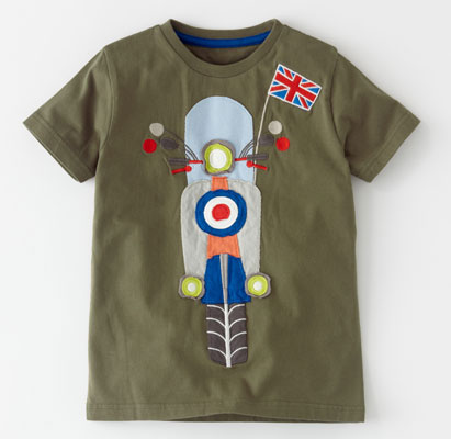 Scooter-inspired Vehicle Applique t-shirt at Boden