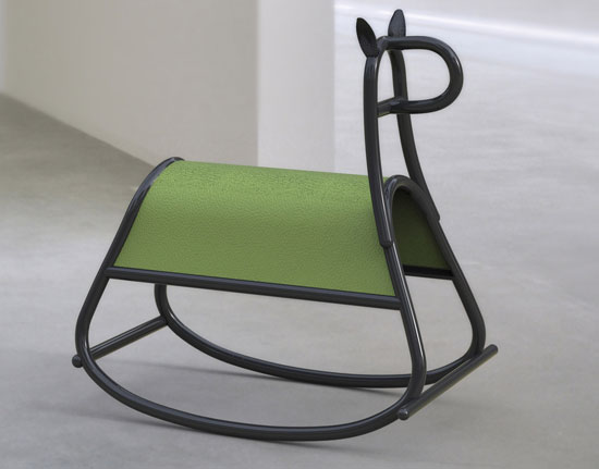 Modernist Furia rocking horse for kids by Front for Thonet