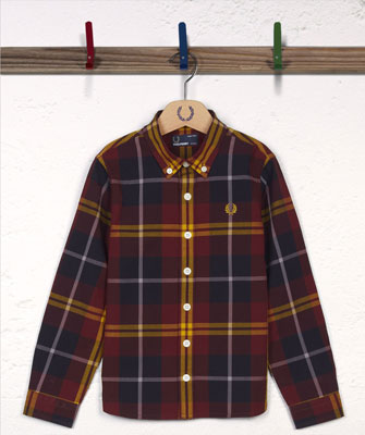 Kids Large Mod Check Shirt by Fred Perry