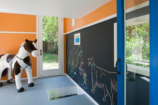 Piet Mondrian-inspired modernist playhouse for kids