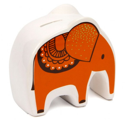 Stylish saving: Safari Park ceramic elephant money box at Paperchase