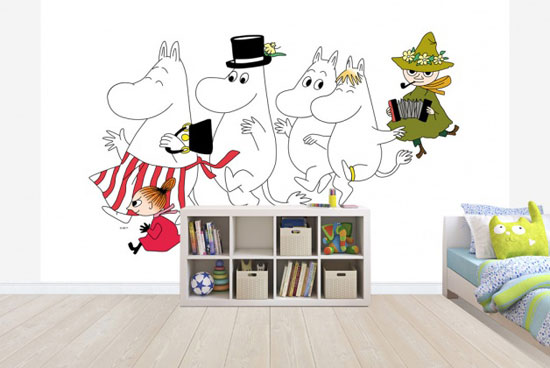 Moomins wall murals by Photowall