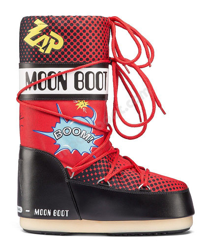 Pop art Moon Boots for kids