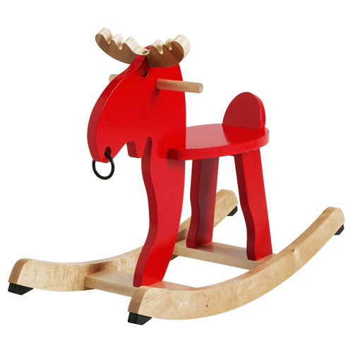 Festive play: Ekorre the rocking moose at Ikea
