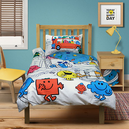 Mr Men duvet cover and pillowcase set