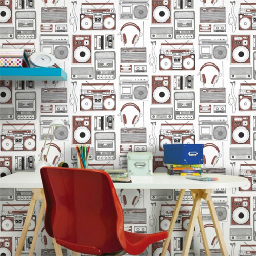 Retro Music wallpaper at B&Q