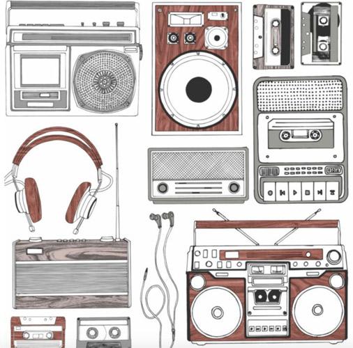 Retro Music wallpaper at B&Q