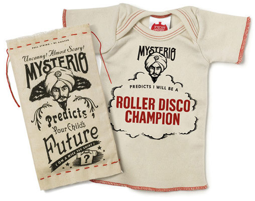 Mysterio Predicts baby t-shirt by Wrybaby at Burp Boutique