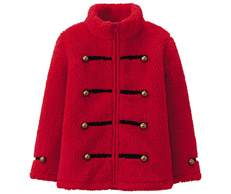 Uniqlo Napoleon fleece jacket for girls