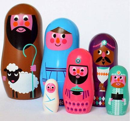 Ingela Arrhenius Nesting Nativity Dolls by Omm Design