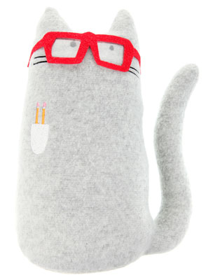 Kitty Go Nerdy Cat soft toy