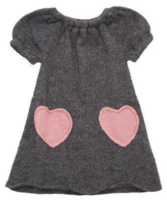 Oeuf NYC Alpaca Heart Dress