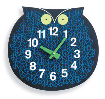 Omar The Owl Wall Clock by George Nelson