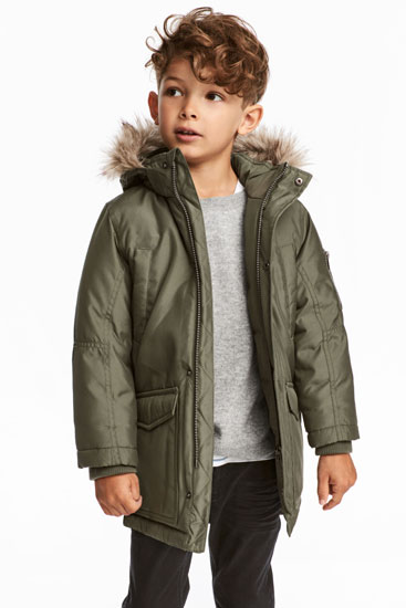 Going old school: Padded Parka at H&M