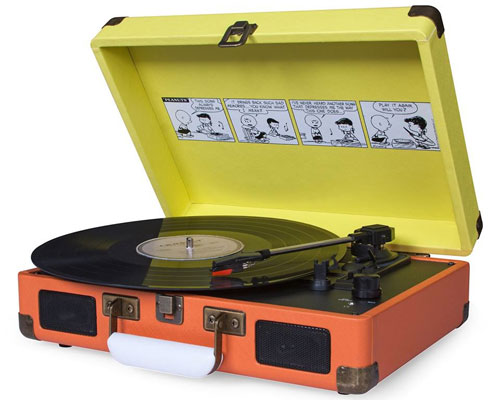 Vinyl playback for kids: Peanuts x Crosley Cruiser record player
