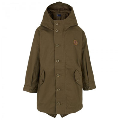 Fred Perry Green Fishtail Hooded Parka