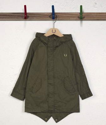 Fred Perry Kids fishtail parka