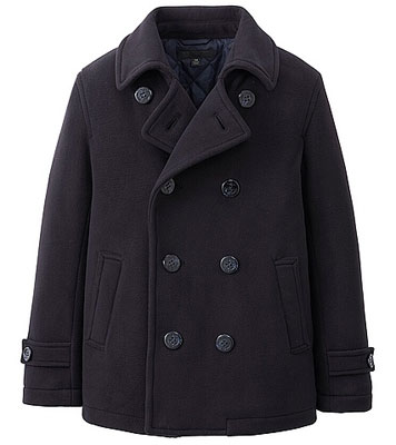 Uniqlo For Kids unisex pea coat